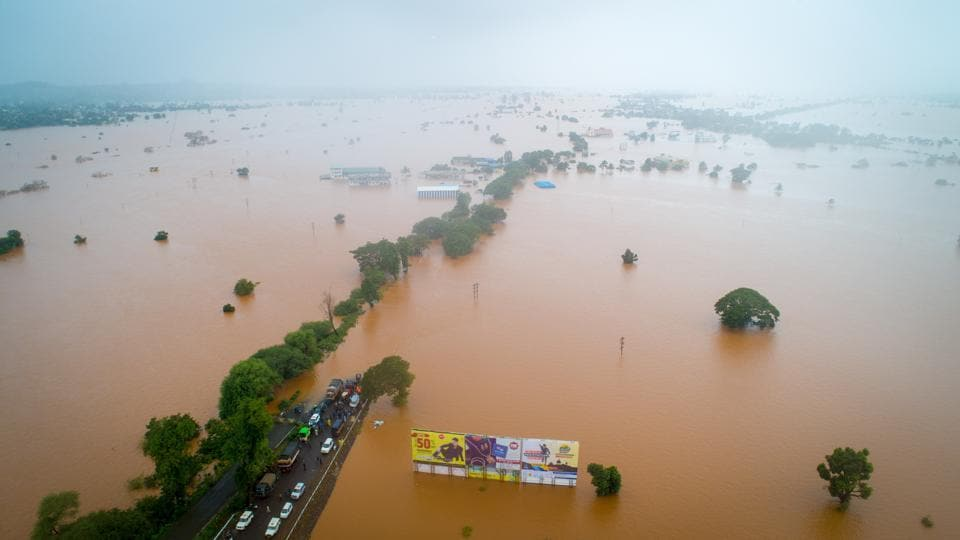 Hundreds of villages in Kolhapur and neighbouring Sangli were flooded after heavy rains in August