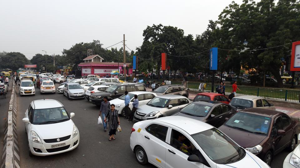 A view of Lajpat nagar central market in New Delhi.