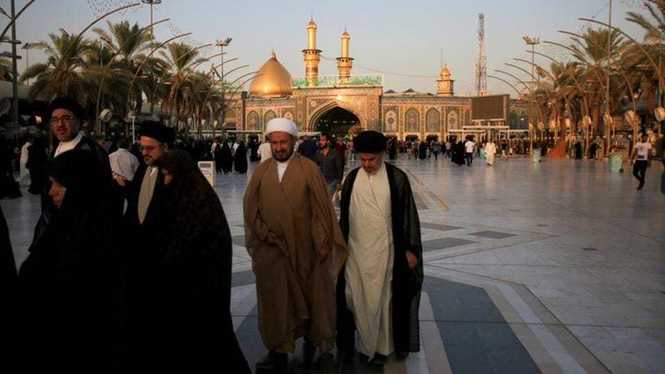 More than 30 pilgrims were killed and dozens injured in a stampede at a major shrine in the Iraqi city of Karbala .
