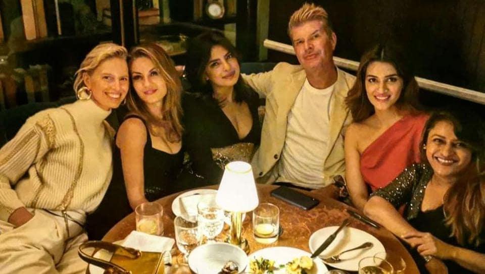 Priyanka Chopra and Kriti Sanon spotted together in New York.