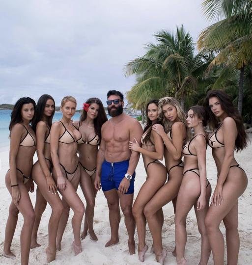 Dan Bilzerian with models