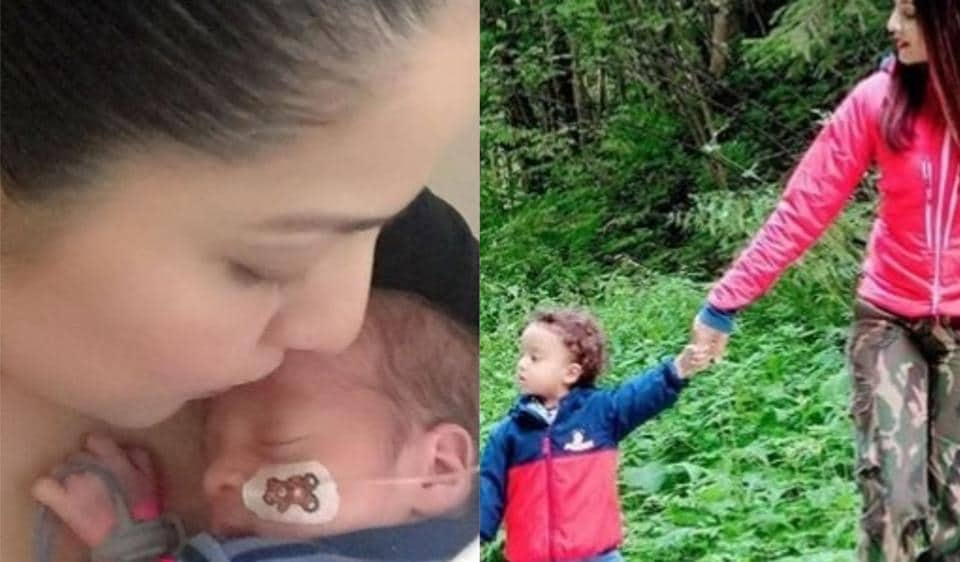 Celina Jaitly shares pictures with her two-year-old son Arthur.