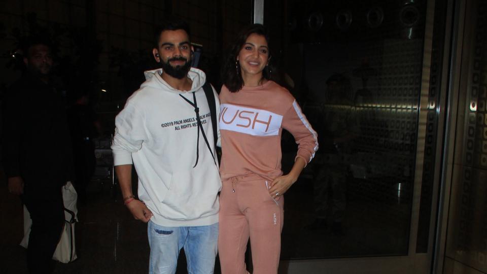 Virat Kohli and Anushka Sharma spotted at Mumbai airport on Thursday.
