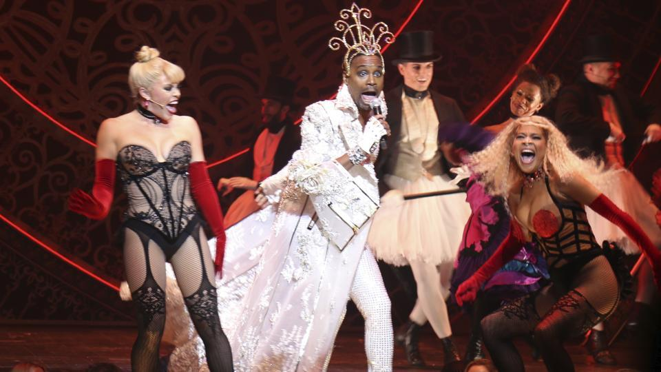 This Sept. 9, 2019 photo shows actor-singer Billy Porter, center, performing at the