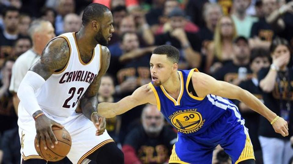 LeBron James and Stephen Curry during the 2016 NBA Finals.