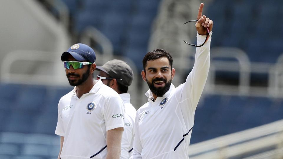 India's captain Virat Kohli during the second Test against West Indies.