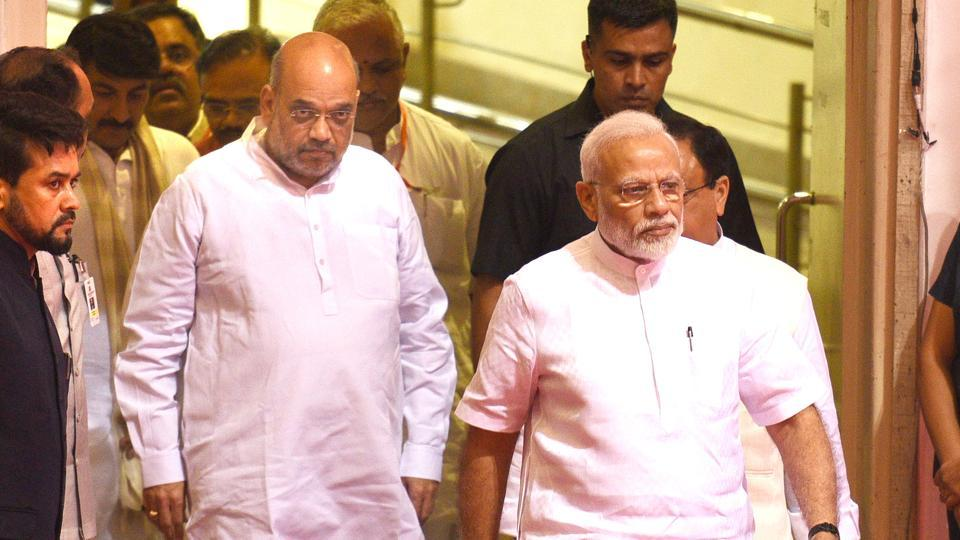 Prime Minister Narendra Modi and home minister Amit Shah in New Delhi, August 13, 2019