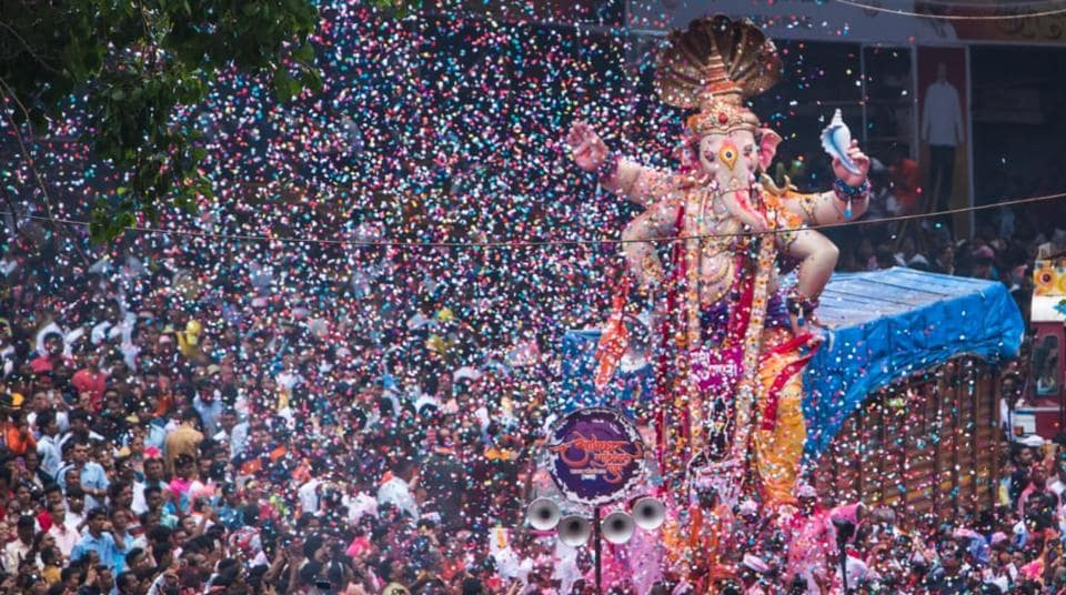 The officials take reading every ten minutes while continuously recording the sound, then an average is derived after compiling the readings. (In pic) Devotees throng the immersion procession of Tulshibaug Ganpati Mndal in large numbers at Alka Talkies chowk on Thursday.