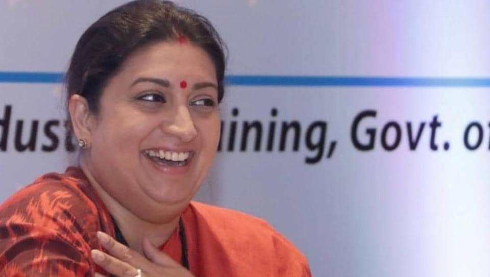 Smriti Irani shared a picture of herself laughing onInstagram.