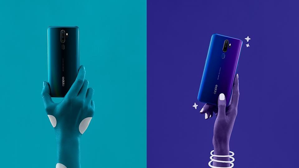 The OPPO A9 2020 is available in two stunning colours – Marine Green and Space Purple.