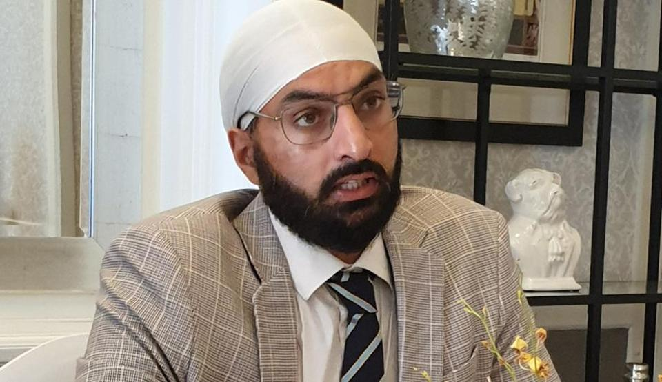 Monty Panesar addressing members of the Indian Journalists Association in London on Friday, September 13, 2019