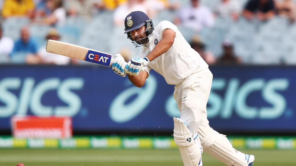 Rohit Sharma during the third Test match in the series between Australia and India at Melbourne Cricket Ground.