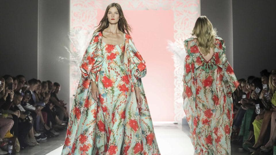 New York: Fashion from the Badgley Mischka collection is modeled during New York Fashion Week, Wednesday Sept. 11, 2019. AP/PTI(AP9_12_2019_000017B)