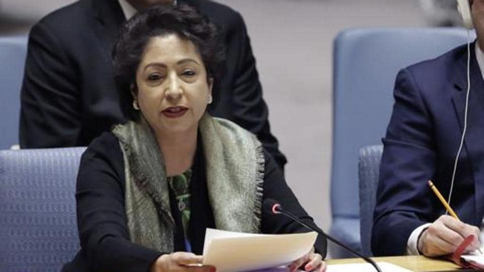 Pakistan's U.N. Ambassador Maleeha Lodhi speaks in the United Nations Security Council, Friday, Jan. 19, 2018. (AP Photo/Richard Drew)