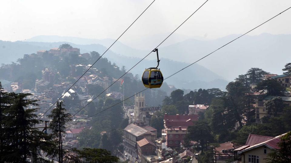 The ropeways will come up at Shimla, Manali and Dharamshala.