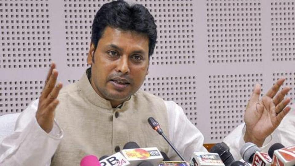 Tripura Chief Minister Biplab Kumar Deb had allegedly distributed sports materials to 18 clubs located in Badharghat constituency on September 6.