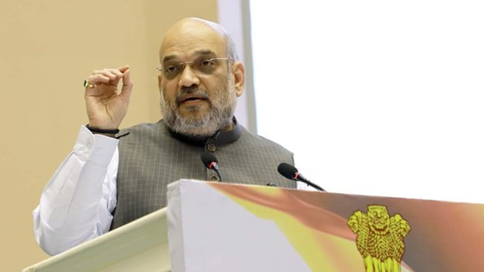 Home Minister Amit Shah's appeal on Saturday to increase use of Hindi that he underscored has the potential to unify the country sparked off a row with opposition leaders. (Photo @PIB_India)