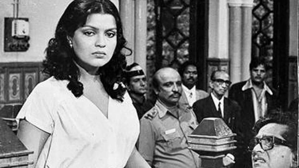 Always in the dock: Zeenat Aman in Insaf ka Tarazu.