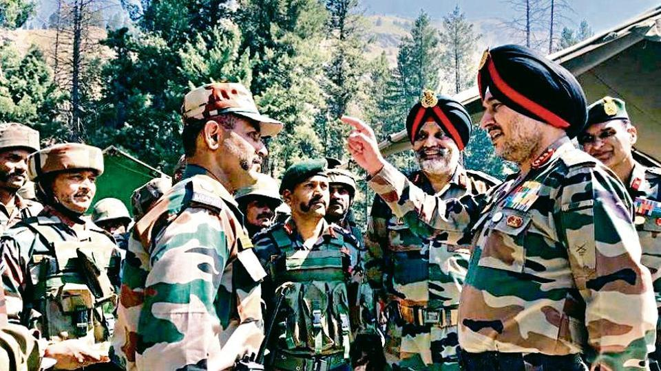 General Officer Commanding-in-Chief, Northern Command, Lt General Ranbir Singh visits north Kashmir to review the prevailing security situation in the region on Friday. The Army Commander visited the formations and units in north Kashmir deployed along the Line of Control and hinterland