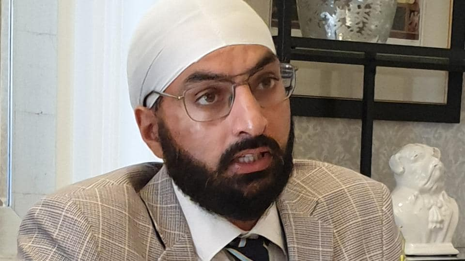 England cricketer Monty Panesar addressing members of the Indian Journalists Association in London, September 13, 2019.