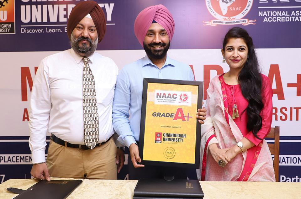 Chandigarh University Gets A+ Grade By NAAC