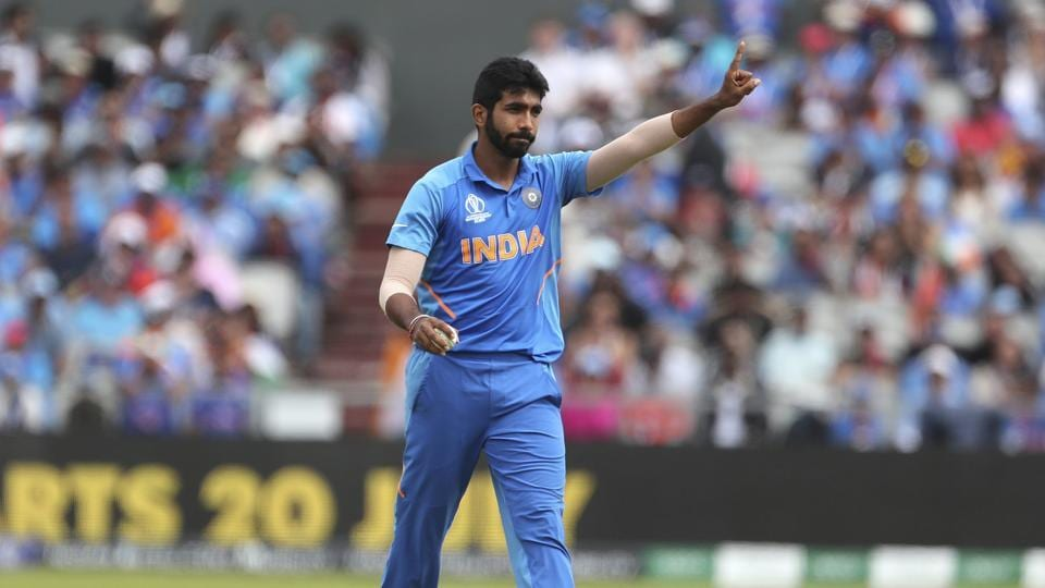 Jasprit Bumrah during the 2019 Cricket World Cup.