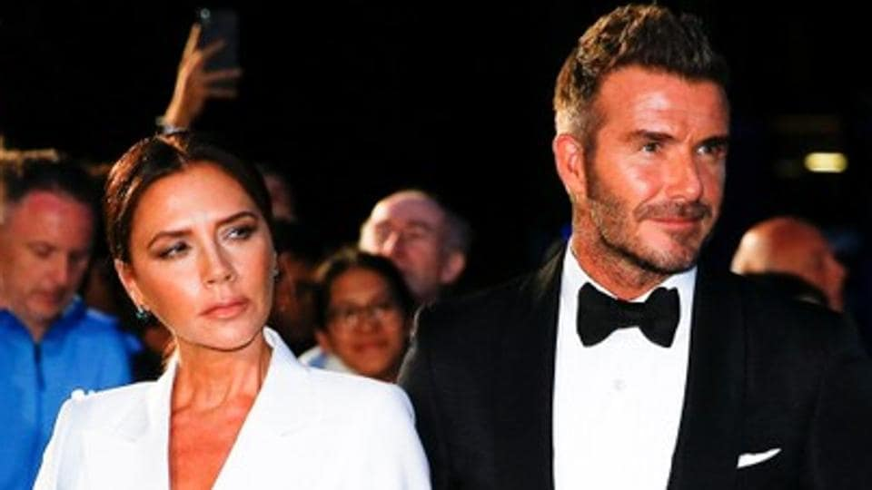 David Beckham, his wife Victoria Beckham at an award ceremony in London, Britain September 3, 2019.