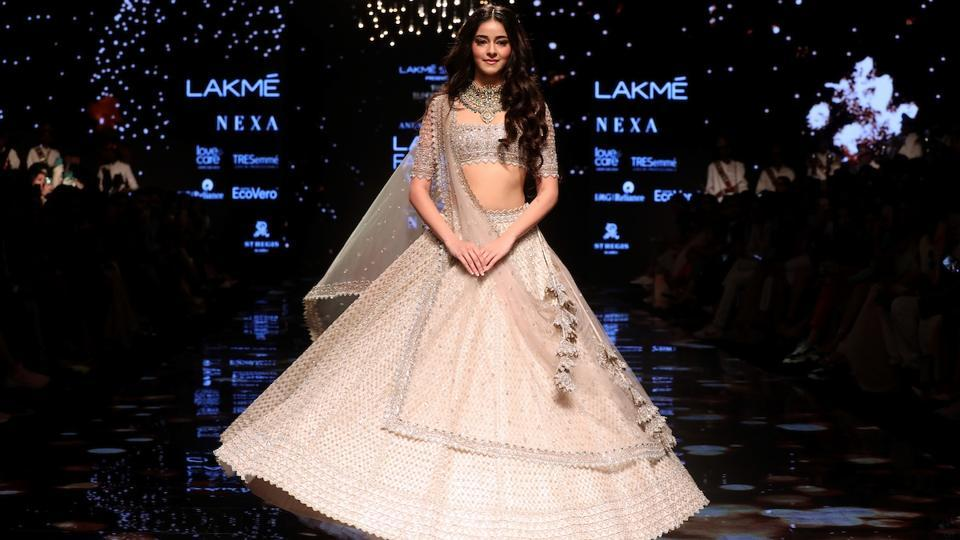 Mumbai: Actress Ananya Pandey at the Lakme Fashion Week Winter/Festive 2019 in Mumbai on Aug 24, 2019. (Photo: IANS)