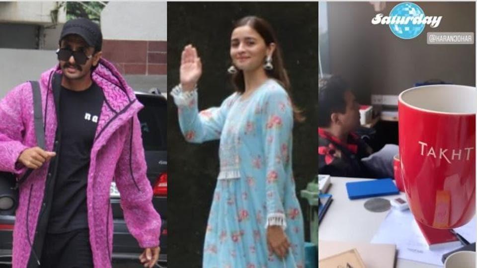 Alia Bhatt, Ranveer Singh, Karan Johar begin work on Takht.