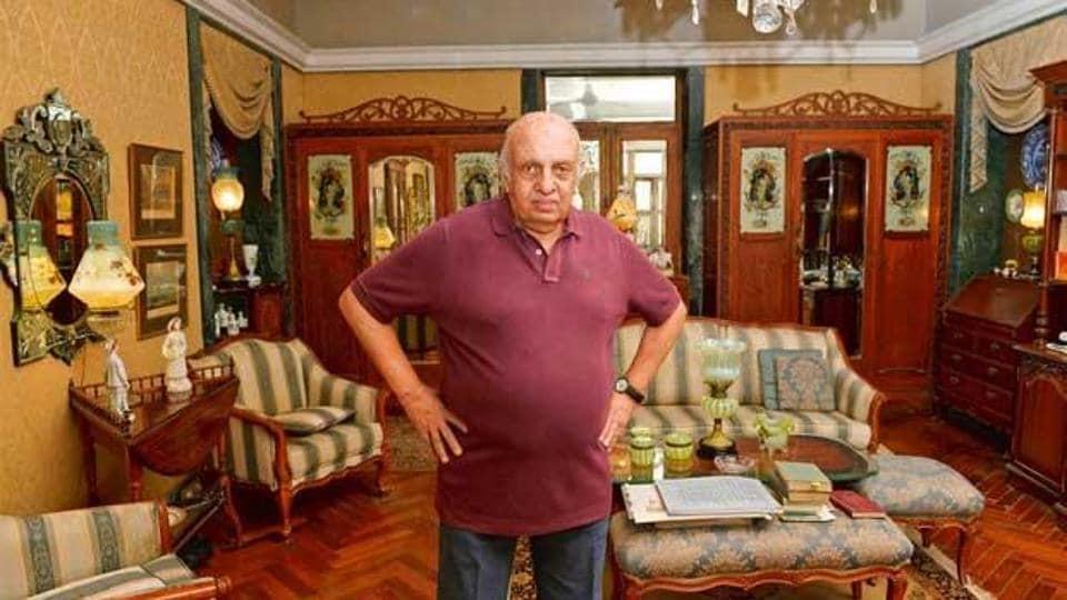 Vanraj Bhatia at his residence at Napean Sea Road, Mumbai. (File picture)