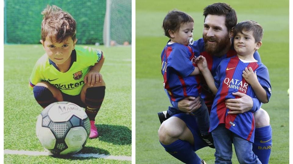 Mateo Messi shows off his football skills in video.