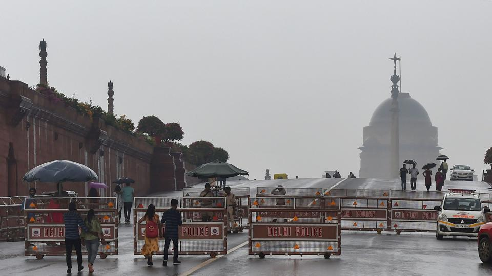 The national capital received 1.8mm rainfall till Sunday morning, bringing much-needed relief from the hot and humid conditions.