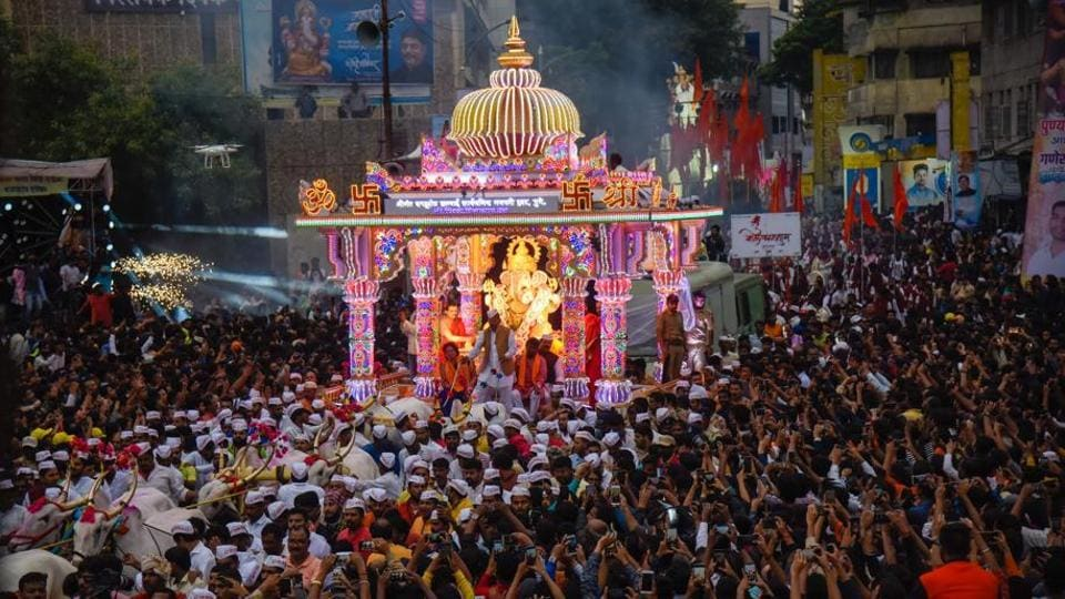 The Pune immersion procession ended in less than 24 hours, for the first time in 10 years.