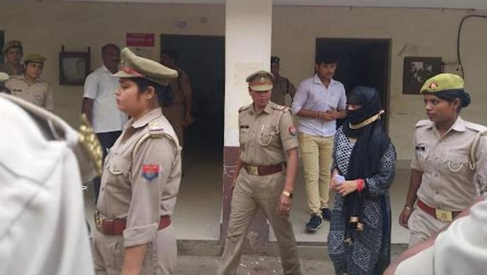 The 23-year-old law student, who has accused the BJP's Swami Chinmayanand of raping her, was on Monday brought to a local court in Uttar Pradesh.