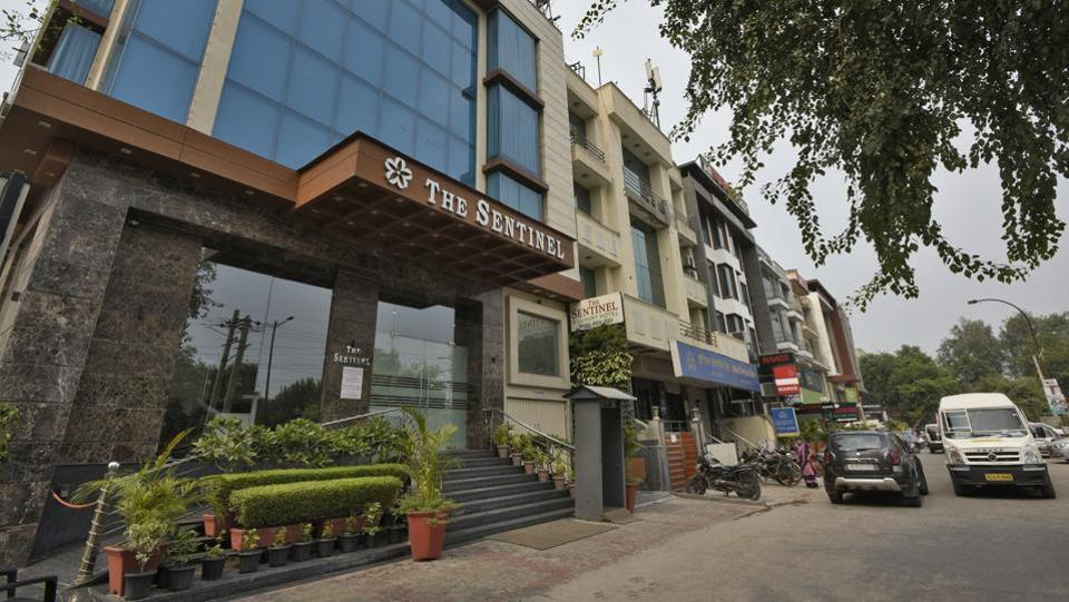"Suraj Kohli, who looks after the front office of a hotel in the area that came up two and a half years back, says, ""Eighty per cent of our guests are patients from Gulf countries, and many of them stay from 15 days to 2 months."" Rinto Thomas, marketing manager, at another hotel in Jasola Vihar, which was started three years ago, says, ""About 85% of our guests are medical tourists."" (Burhaan Kinu / HT Photo)"