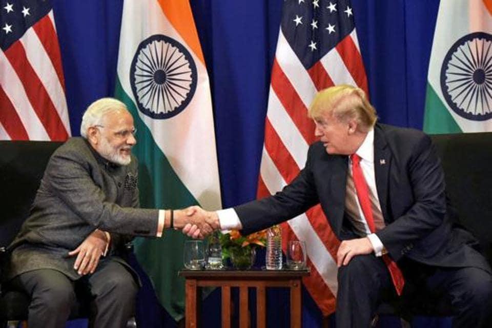 In this Monday, Nov 13, 2017 file photo Prime Minister Narendra Modi meets US President Donald Trump in Manila, Philippines.