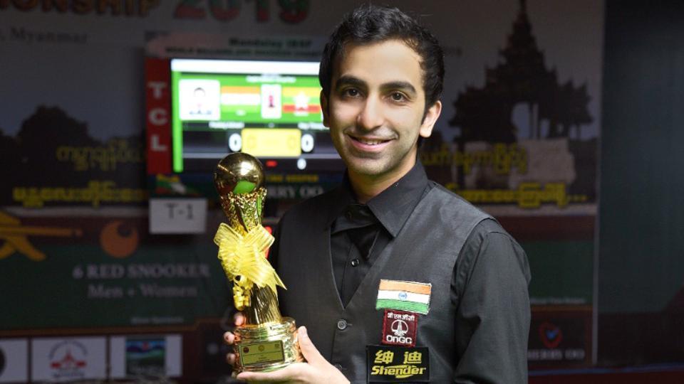 IBSF World Billiards Champion Pankaj Advani wins Record 22nd world title.