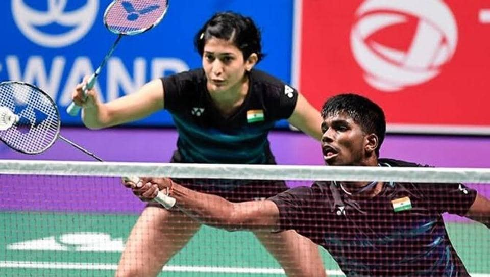India's mixed doubles pair of Satwiksairaj Rankireddy and Ashwini Ponnappa