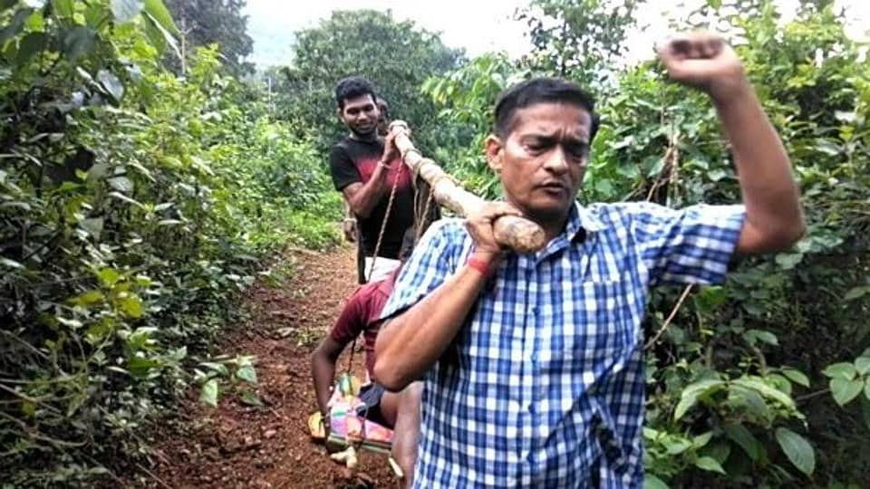 Shakti Prasad Mishra, a 52-year-old doctor working in a sub-centre in Khairput block of Malkangiri district, carried a 12-year-old orphaned boy in a sling and walked for 5 km in hilly and forested terrains