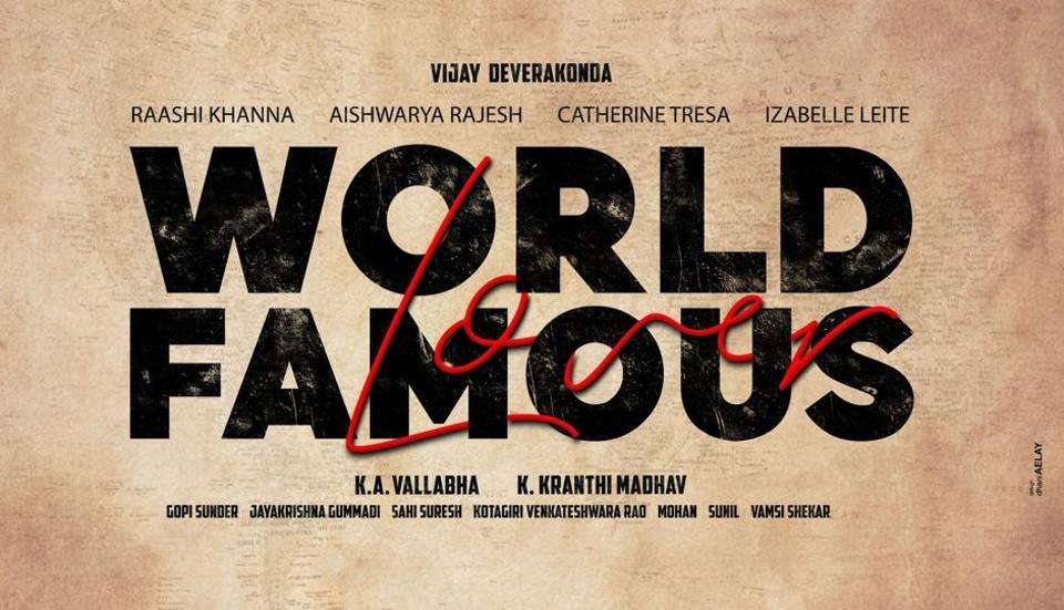Vijay Deverakonda's next film World Famous Lover also stars Raashi Khanna, Catherine Tresa, Aishwarya Rajesh and Isabelle Leite.