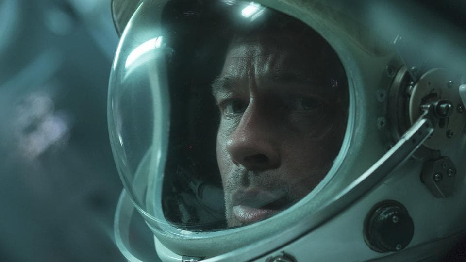 This image released by 20th Century Fox shows Brad Pitt in a scene from Ad Astra.