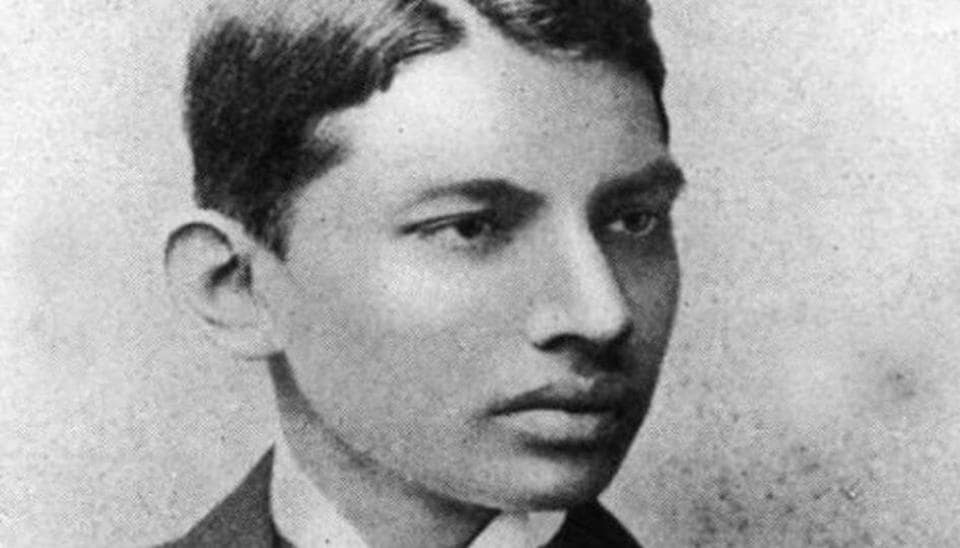 Mahatma Gandhi as a young student in London. HT Archive.