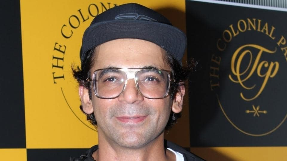 Actor Sunil Grover at the launch of a restaurant in Mumbai.