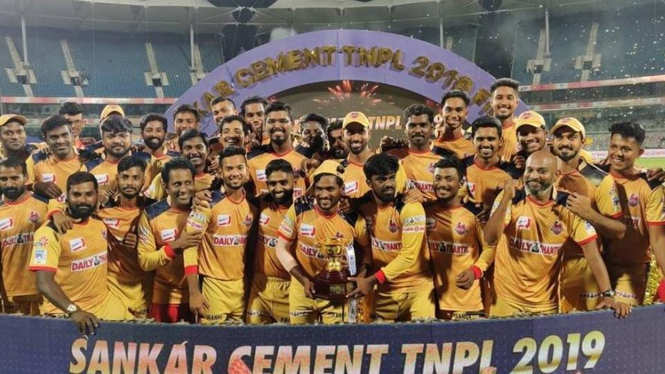 TNPL 2019 champions. Some players in TNPL have been allegedly approached by bookies