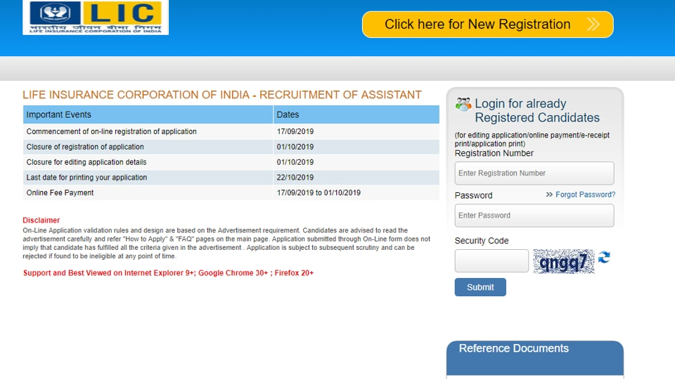 Candidates interested and eligible for the post can apply online at licindia.in on or before October 1, 2019.  (Screengrab)