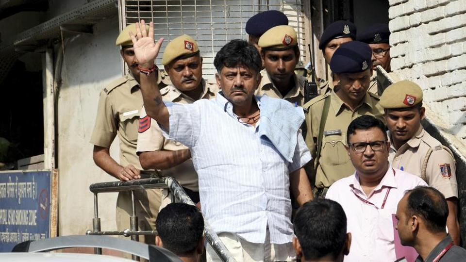 ED arrested Shivakumar on September 4 after questioning him for four days in Delhi for alleged laundering money and for suspected transactions done abroad through shell companies.