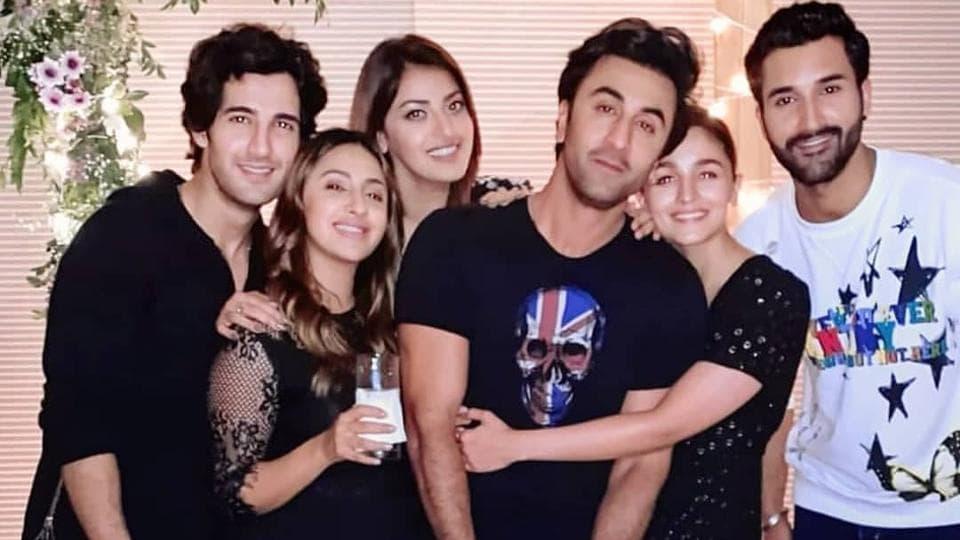 Alia Bhatt and Ranbir Kapoor at her friend Akansha Ranjan's party.