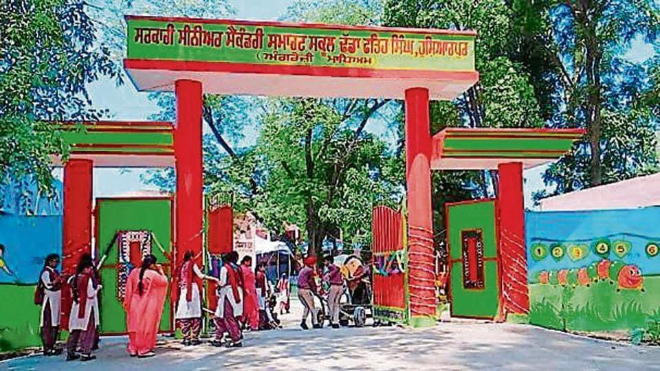 Government Senior Secondary School at Dadhe Fateh Singh village in Hoshiarpur district.