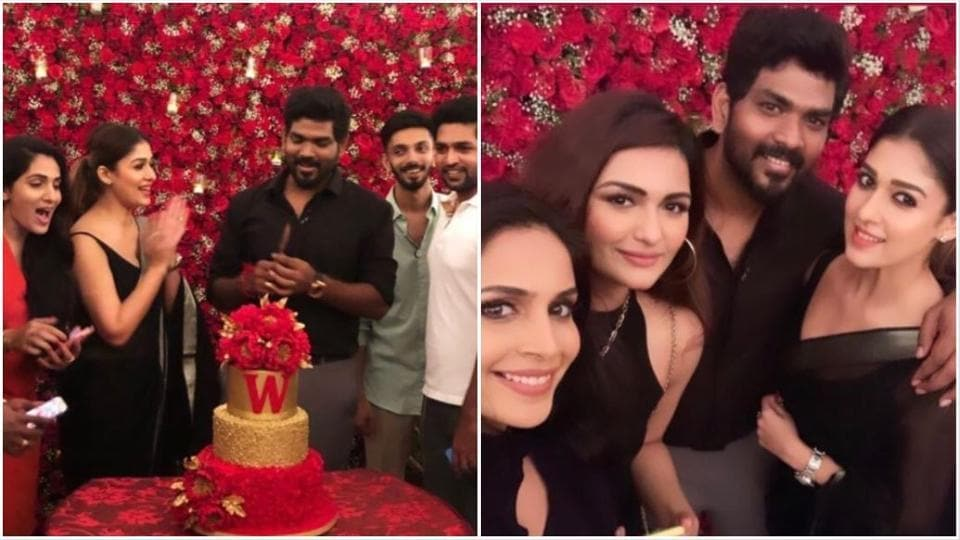 Vignesh Shicvan celebrated his 34th birthday with friends.
