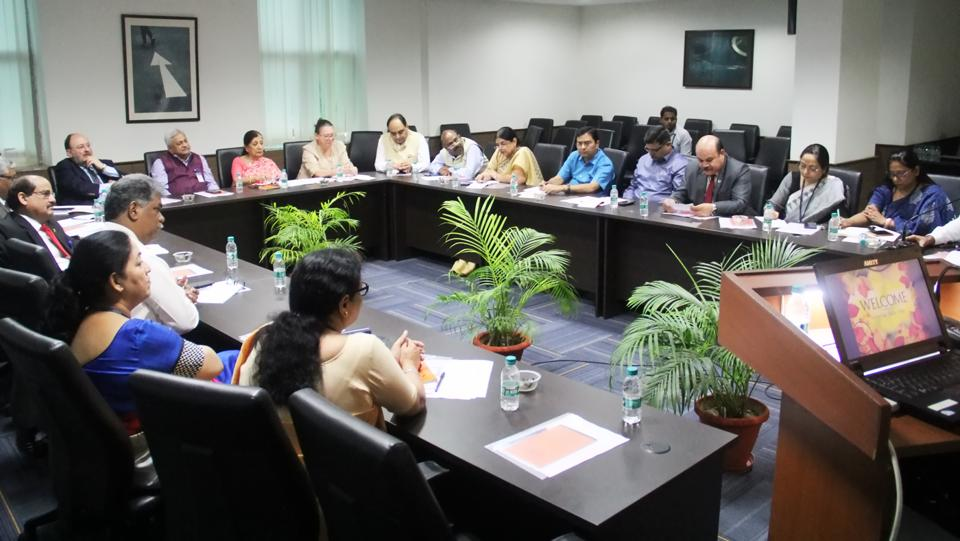 At a round-table on environment organised by the Amity University in Lucknow on Wednesday, participants discussed different concerns about increasing air pollution and the ways to fight the challenge.